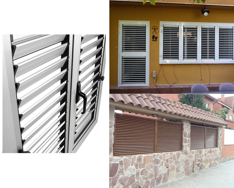Sistema de puertas y ventanas de aluminio mallorquina. Aluminios F. Quiros.