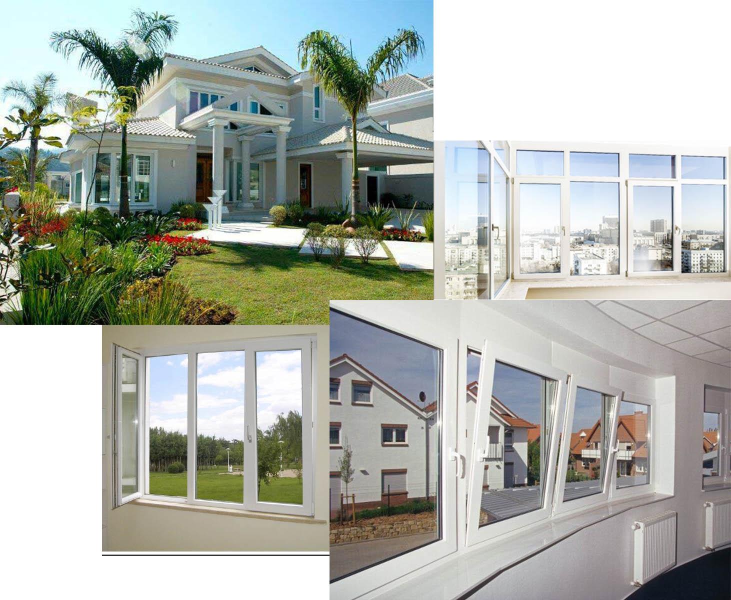 Sistema abatible de PVC para ventanas y puertas Eurofutur Elegance. Aluminios F. Quiros.